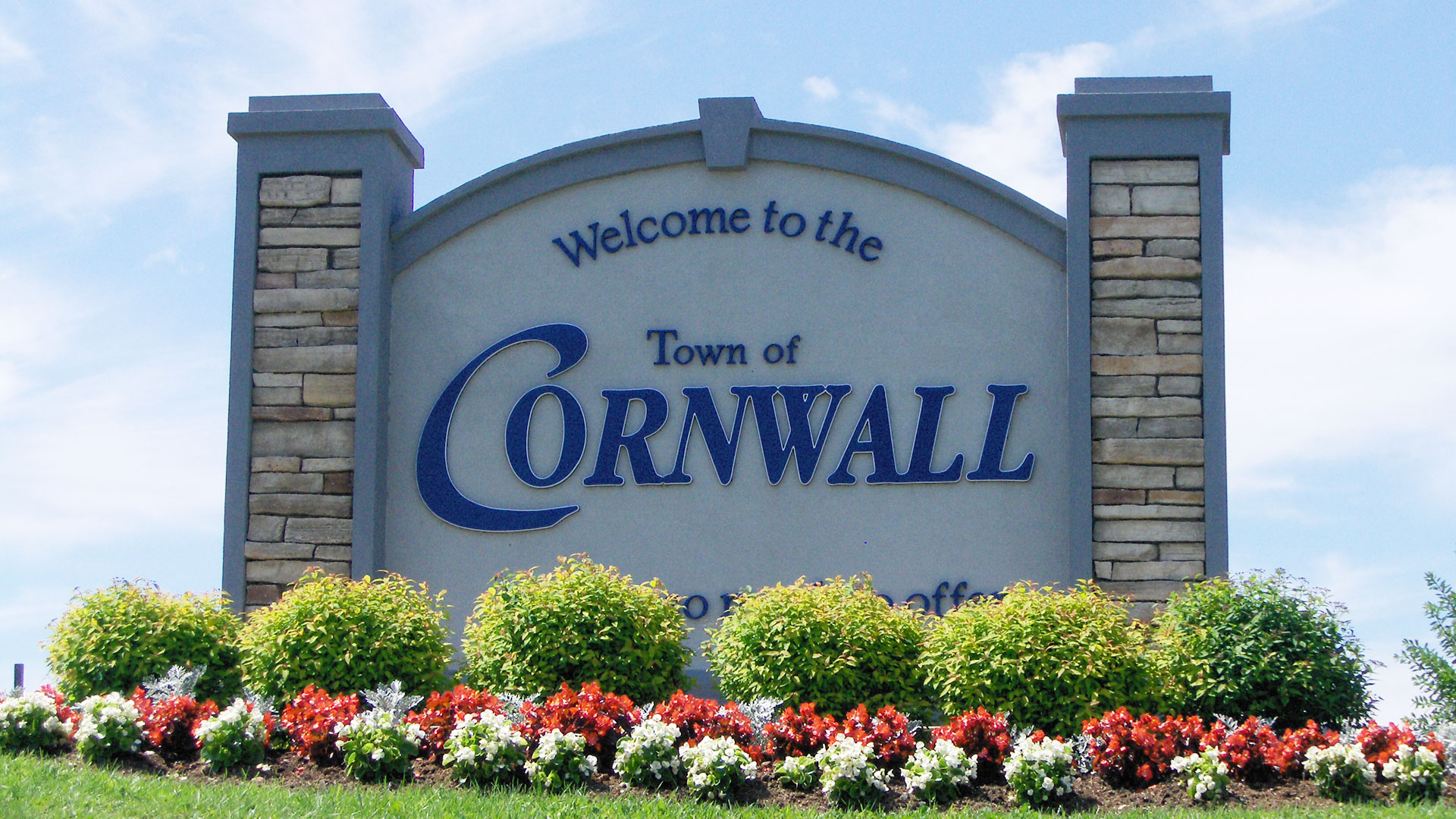 Town of Cornwall sign