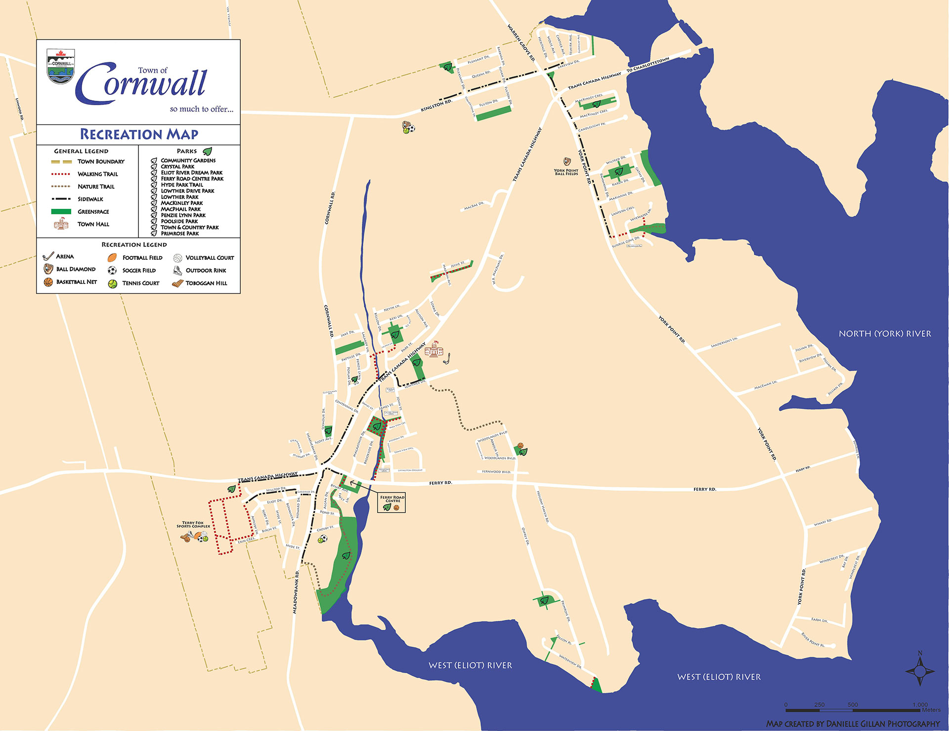 Town of Cornwall Trail Map