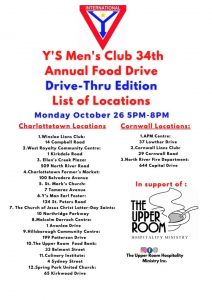 Y's Men's Food Drive - Drive Thru @ See attached poster